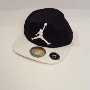 Air Jordan baseball Hat/Cap black and white